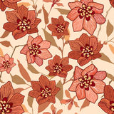Floral seamless background. Abstract  flower geometric Seamless Texture Royalty Free Stock Photos