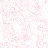Floral seamless background. Abstract flower geometric Seamless Texture Royalty Free Stock Photo