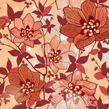 Floral seamless background. Abstract flower Seamless Texture Royalty Free Stock Photography