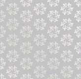 Floral seamless background. Abstract grey and white floral geometric Seamless Texture Stock Image