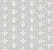 Floral seamless background. Abstract grey and white floral geometric Seamless Texture Royalty Free Stock Image