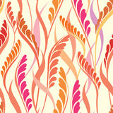 Floral seamless background. Abstract leaves geometric Seamless Texture Stock Photos