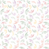 Floral seamless background. Abstract leaves geometric Seamless Texture Stock Photo