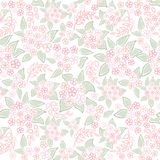 Floral seamless background. Abstract ornament geometric texture. Stock Images