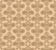 Floral seamless background. Abstract ornament geometric texture. Flower ornamental carpet illustration over beige background. Abstract seamless pattern with Stock Illustration