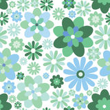 Floral seamless background. Abstract ornament geometric texture. Flower ornamental carpet illustration over white background. Abstract seamless pattern with Stock Illustration