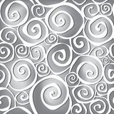 Floral seamless background. Abstract ornament geometric texture. Spiral ornamental carpet illustration over grey background. Abstract seamless pattern with Royalty Free Illustration