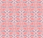 Floral seamless background. Abstract pink and white floral geometric Seamless Texture Royalty Free Stock Images