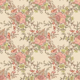 Floral seamless background. Bambo leaf pattern. Floral seamless Royalty Free Stock Image