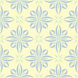 Floral seamless background. Blue and green flower pattern on beige backdrop. For wallpapers, textile and fabrics royalty free illustration