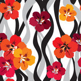 Floral seamless background. bright flower pattern. stock illustration