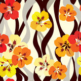 Floral seamless background. bright flower pattern. Royalty Free Stock Image