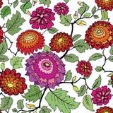 Floral seamless background. Decorative flower pattern. Floral se Stock Photos