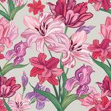 Floral seamless background. Decorative flower pattern. Floral se Stock Images