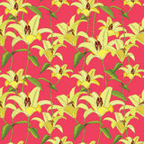 Floral seamless background. Decorative flower pattern. Stock Photography