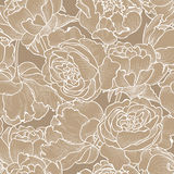 Floral seamless background. Decorative flower pattern. Stock Images