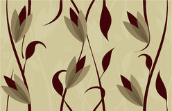 Floral seamless background design in vector. Floral seamless backgrounds for design of fabrics and wallpapers Stock Image