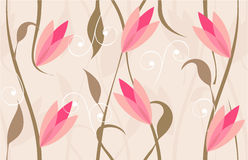 Floral seamless background design in vector. Seamless background with floral design in red color Royalty Free Stock Photography