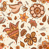 Floral seamless background for design Royalty Free Stock Photo