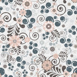 Floral seamless background of elegant colors. Royalty Free Stock Photos
