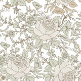 Floral seamless background. flower pattern. Stock Images