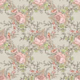 Floral seamless background. Flower pattern. Flourish tiled sprin Royalty Free Stock Images