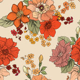 Floral seamless background. flower pattern. Flourish wallpaper Stock Photos