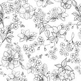 Floral seamless background. flower pattern. Flourish wallpaper Stock Photo