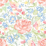 Floral seamless background. Flower pattern. Royalty Free Stock Photography