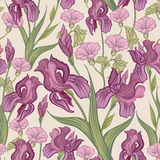 Floral seamless background. Flower pattern. Stock Photography