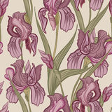 Floral seamless background. Flower pattern. Royalty Free Stock Photos
