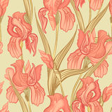Floral seamless background. Flower pattern. Stock Photo