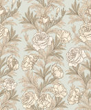 Floral seamless background. Flower pattern. Royalty Free Stock Images