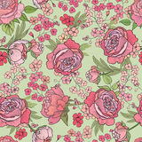 Floral seamless background. Flower pattern. Royalty Free Stock Image