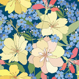 Floral seamless background. gentle flower pattern. Royalty Free Stock Photo