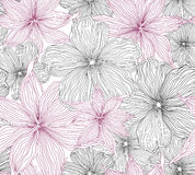 Floral seamless background. gentle flower pattern. Stock Image