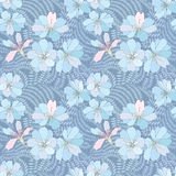 Floral seamless background. gentle flower pattern. Royalty Free Stock Photography