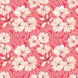 Floral seamless background. gentle flower pattern. Stock Photo