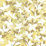 Floral seamless background. gentle leaves pattern. Royalty Free Stock Photos