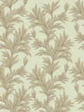 Floral seamless background. leaves retro style pattern. Stock Image