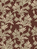 Floral seamless background. leaves retro style pattern. Stock Photo