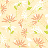 Floral seamless background. Light wallpaper with elegant flowers in pastel tones vector illustration