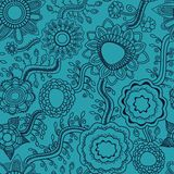 Floral seamless background line work Royalty Free Stock Images