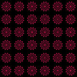Floral seamless background pattern. Red and black color Royalty Free Stock Photography