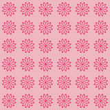 Floral seamless background pattern. Red and black color Stock Photo