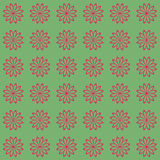 Floral seamless background pattern. Red and black color Stock Photos