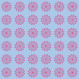 Floral seamless background pattern. Red and black color Royalty Free Stock Image