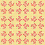 Floral seamless background pattern. Red and black color Royalty Free Stock Images