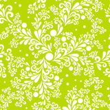 Floral seamless background. Seamless pattern with smooth floral elements royalty free illustration