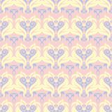 Floral seamless background. Pink, blue and yellow flower pattern. For wallpapers, textile and fabrics Royalty Free Stock Photos